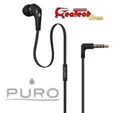 PURO Auricolare Mono In-Ear con Microfono Universale Smartphone Jack 3.5mm NERO