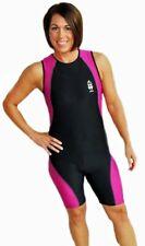 Astek Womens Modest Triathlon Suit Swim Bike Run Tri Suit - Small - Pink