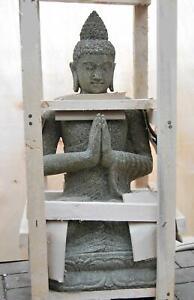 Buddha aus Lavastein 80cm für Ihren Garten oder Spa Bereich Budda Lavagestein