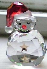 Swarovski Crystal Christmas Figurine ROCKING SNOWMAN #5103227 MINT
