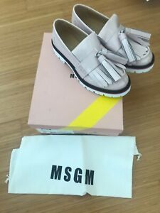 MSGM PALE PINK CHUNKY LOAFERS SHOES!!!!  BRAND NEW IN A BOX!!!!!!!!!!!