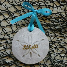 ST. KITTS Sand Dollar Made with Sand Beach Ornament