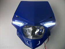 Ufo Road Legal Headlight Enduro Streetfighter Yamaha Blue Yz Yzf Wr Wrf Dt Xt