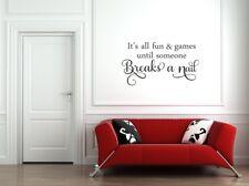 Custom listing wall art sticker Home decor Girls Bedroom Beauty Salon diy