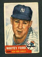 Whitey Ford 1953 Topps in good shape New York Yankees