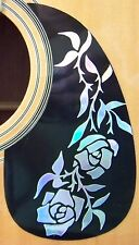 Guitar Pick Guard Decal Vine of  Roses Decal /Sticker Dress up your old Guitar