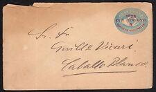 STORIA POSTALE GUATEMALA 1895 Busta Postale per Caballo Blanco (EXT)