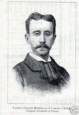 GIOVANNI MUZZIOLI PITTORE MARMO MODENA MUGNONE FIERENZE 1894