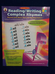 Carson-Dellosa Reading/Writing Complex Rhymes Grades 2-3 Spelling Overheads NEW