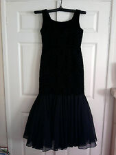 Belrobe Black Vintage Handmade Genuine Rare 1950's Evening Gown