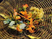 Vintage Millinery Orange Yellow Blue Hat Trim Wholesale Lot Bespoke Wedding H24