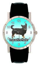 Lancashire Heeler Dog Men Women Genuine Leather Quartz Wrist Watch Sa1145