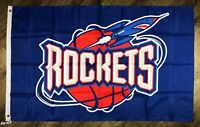 Houston Rockets NBA Classic Retro FLAG 3x5 ft Basketball Sports Banner Man-Cave