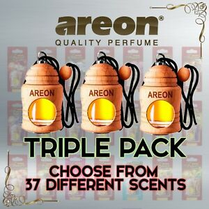3x AREON Fresco Car Home Perfume Long Lasting Air Freshener - 37 Amazing Scents