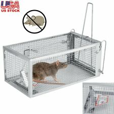 Rat Trap Cage Small Live Animal Pest Rodent Mouse Control Bait Hunting Case
