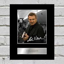 Liam Neeson Signed Mounted Photo Display Non-Stop
