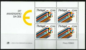 Portugal 1982 European Economic Community Minisheet UNM / MNH