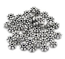 Perles intercalaire spacer Fleur 4mm Choix quantité Apprêts créat bijoux _A014