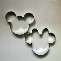 Mickey & Minnie Mouse Biscuit Cookie Cutter Set Fondant Steel Baking mold