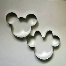 Mickey & Minnie Mouse Bizcocho Masita Cortador Set Molde Para Fondant De Acero