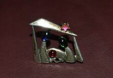 VINTAGE GEORGE SCHULER STERLING SILVER CHRISTMAS PIN BROOCH