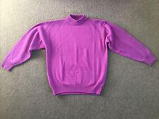 """Compliments"" Purple 100% Lambs Wool Jumper, Ladies, M."