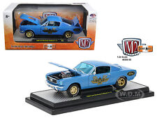1966 FORD MUSTANG 2+2 GT FASTBACK BLUE 1/24 DIECAST MODEL CAR BY M2 40300-55B