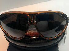 Carrera Men & Women's DarkTeaLeopard&Gold Retro Sunglasses+Carrera Case&Cloth