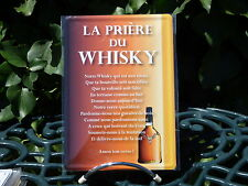 PLAQUE METAL RUE DECORATION 15x21cm PRIERE DU WHISKY bar bistrot pub apéro biere