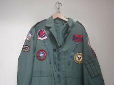 Genuine Pilot Coverall Fancy Dress Maverick TOP GUN FLIGHT SUIT AVIATOR COSTUMEs