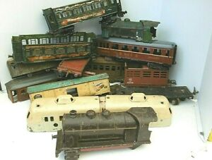 HORNBY/ JEP  réseau O LOT D EPAVES de wagons & locomotives pour restauration