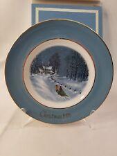 Avon 1976 Christmas Plate Bringing Home The Tree Enoch Wedgwood Tunstall England