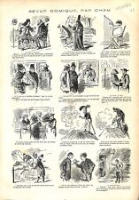 Molière à Londres Comédie-Française traverse la Manche Dessin Cham GRAVURE 1879