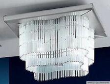Deckenleuchte Deckenlampe Kronleuchter NAXOS 4x E27 Nickel Hänge Glas Stäbe