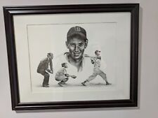 Ted Williams, pencil on paper, signed original