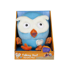 Giggle and Hoot Talking Hoot Plush Toy 17cm