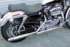 CHROME CYCLE SHACK TAPERED EXHAUST FOR HARLEY SPORTSTER XL883 1200 2004-2006