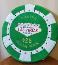 More details for rare - las vegas nevada casino $25 chip coin novelty pillow plush cushion