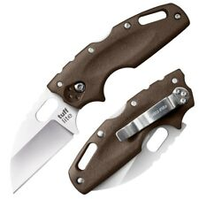 "Cold Steel Tuff Lite Plain Edge AUS 8A Dark Earth 3.5"" Long Griv-Ex Hndle 20LTF"