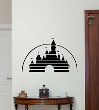 Walt Disney Castle Wall Decal Vinyl Sticker Nursery Poster Fairy Decor 184crt