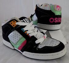 Osiris South Bronx Skate Shoes Multi-Color/ Black-Pink-Green-White Womens 7.5