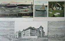 3 Antique Postcards Cape Breton North Sydney Coal Mines High School
