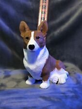 Welsh Corgi Cardigan Plaster Dog Statue Hand Cast And Painted By T.C. Schoch
