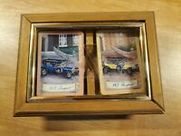 Vintage 1907 Peugeot Playing Cards With Wooden Box