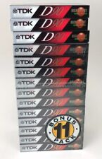 New listing Tdk D90 High Output Normal Position Blank Audio Cassettes Lot Of 14 New