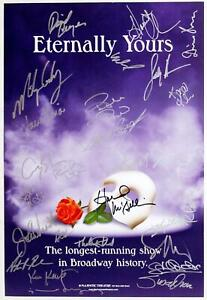 PHANTOM OF THE OPERA Broadway Cast Signed Longest Running Show Poster
