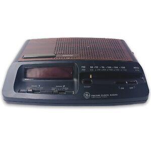 Vintage GE General Electric 7-4621A AM-FM Dual Alarm Clock Radio Tested, Works