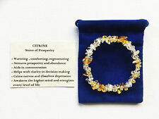 Citrine Bracelet Gemstone Crystal Chip Beads Stretch 'BUY 3 GET 1 FREE'