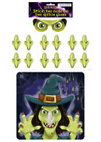 Halloween Childrens Kids Blindfold Party Game Stick or Pin The Nose On The Witch