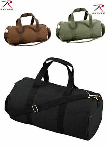 "Canvas Sports Gym Duffle Shoulder Bag 19"" Rothco- Black, Earth Brown, Olive Drab"
